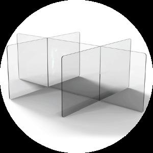Acrylic Desk/Office Partition
