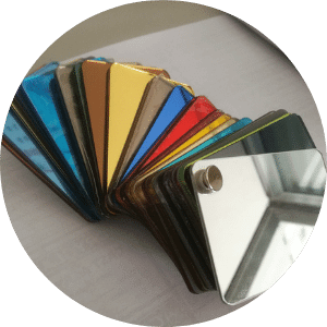 Acrylic Mirror sheets in all colors.