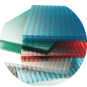 Multiwall Polycarbonate Sheets also known as holo sheets.