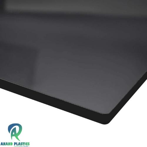 transparent black acrylic sheet